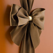 Brown bow — Stock Photo
