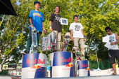 Amateur podium at the 2nd Stage DC Skate Challenge by Fuel TV — Stock Photo