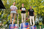 Pro podium at the 2nd Stage DC Skate Challenge by Fuel TV — Stock Photo