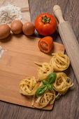 Uncooked italian pasta — Stock Photo