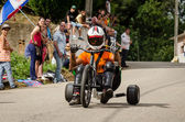 Drift bike rider during the 2nd Newton's Force Festival 2014 — Stock Photo