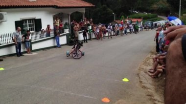 Drift trike riders during the 2nd Newton's Force Festival 2014 — Wideo stockowe