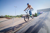 Diogo Martins during the DVS BMX Series 2014 by Fuel TV — Stock Photo