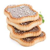 Chocolate tart cookies — Stock Photo
