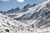 Snow mountain landscape — Stockfoto