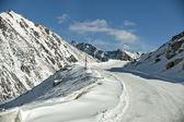 Snow mountain landscape — Stock Photo