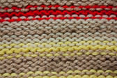Multi-colored knitted fabric — 图库照片