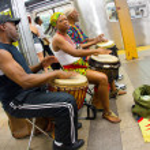 NYC Subway Musicians — Stock Photo #12537456