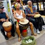 NYC Subway Musicians — Stock Photo