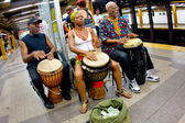NYC Subway Musicians — Stock Photo