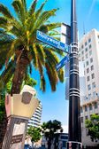 Hollywood and Vine — Stockfoto