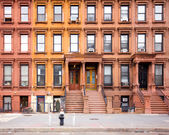 Brownstones de harlem — Foto Stock