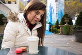 Girl in NYC Bryant Park — Stock Photo