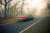 Foggy Drive — Stock Photo