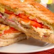 Italian Panini Sandwich - Stock Photo