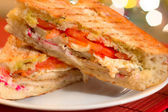 Italian Panini Sandwich — Stock Photo