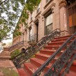 NYC Brownstone Apartments — Stock Photo