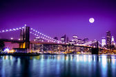 Nyc brooklyn brug en skyline — Stockfoto