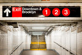 New York City Subway Station — Stockfoto