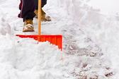 Shoveling Snow — Stock Photo