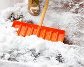 Shoveling Snow — Stock Photo