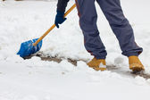 Skotta snö — Stockfoto