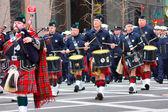 Nyc святого патрика парад в день перемирия — Стоковое фото