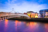 Quai de dublin au crépuscule — Photo
