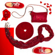Red Items — Stock Photo