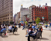 Flatiron Pedestrian Plaza — Stock Photo