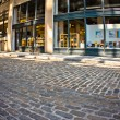 Dumbo Brooklyn Cobblestone Street - Stock Photo