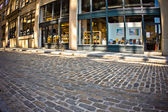 Dumbo Brooklyn Cobblestone Street — Stock Photo