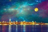 NYC Fantasy Night — Stock Photo