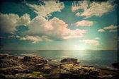 Vintage oceaan scène — Stockfoto