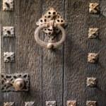 Крупным планом урожай дверью — Стоковое фото