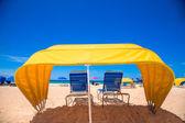 Guarda-chuva de cabana de praia — Foto Stock