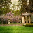 Vintage formal gardens — Stock Photo