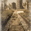 Stock Photo: Train track Vintage
