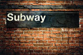 New York City Subway Sign — Stock Photo
