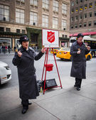 Salvation Army Workers — Stock Photo