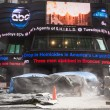 Times Square NYC Construction — Stock Photo