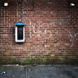 Payphone Grunge Wall — Stock Photo
