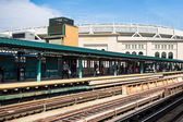 Yankee stadyumu tren — Stok fotoğraf