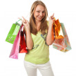 The beautiful girl with packages — Stock Photo #2941120