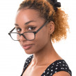 Good girl with glasses — Stock Photo