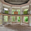 Interior of an abandoned building - Stock Photo