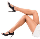 Lovely female legs — Stock Photo