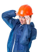 Watch out! Please wear a protective helmet. — Stock Photo
