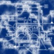 Example of  industry document blueprint — Stock Photo