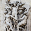 La Danse, sculpture on the facade of the Paris Opera — Stock Photo